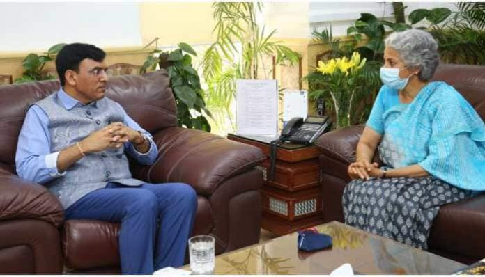 Health Minister Mansukh Mandaviya meets WHO chief scientist Soumya Swaminathan for Covaxin approval