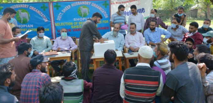 Selection process for SUs held at Shopian